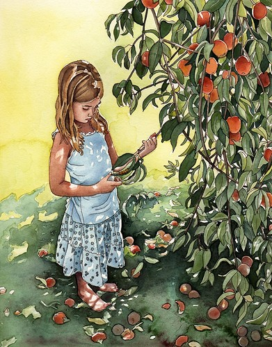 Girl Under a Peach Tree